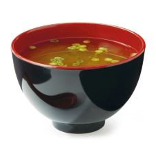 G.E.T.® B-124-F Fuji™ Red / Black 38 Oz. Melamine Bowl