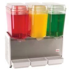 Crathco D35-4 The Bubbler™ White Triple 5-Gal Beverage Dispenser