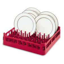 Full Size Standard Plate Rack, Red, 19-3/4 x 19-3/4 x 3-1/4 H