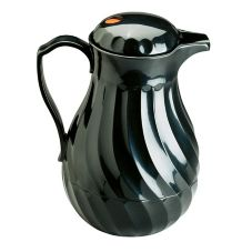 Vollrath® 52174 SwirlServe Black Hot-N-Cold 64 Oz. Beverage Server