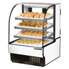 True® Curved Glass Dry Bakery Display Case, 14 Cubic Ft