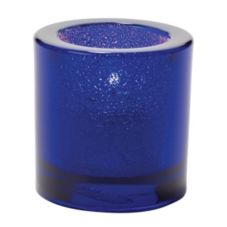 Hollowick Cobalt Blue Jewel Thick Glass Tealight Lamp