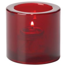 Hollowick Ruby Thick Glass Tealight Lamp