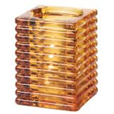 Hollowick® 1511A Amber Horizontal Rib Glass Rod Lamp