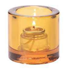 Hollowick® 5140A Amber Thick Glass Tealight Lamp