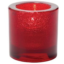 Hollowick® 5140RJ Ruby Jewel Thick Glass Tealight Lamp