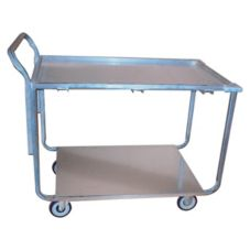 Win-Holt® WPT-2340 Wet Produce Open Base Utility Cart w/ 2 Shelves
