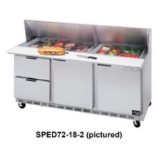 Beverage-Air SPED72-12-2 Elite Refrigerated Counter w/ 12 Pan Openings