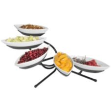 Gourmet Display® SR303-1 Metal 5-Tier Display Set w/ 5 Canoe Bowls
