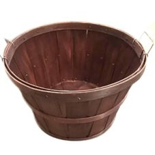 "Mahogany Painted Bushel Basket, 18"" x 12"""