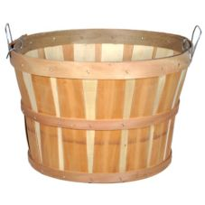 Texas Basket Co. 141 Natural Wood Round 1/2 Bushel Basket