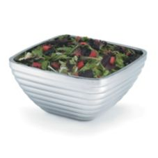 Beehive Style Square Double Wall S/S Serving Bowl, 8.2 Qt