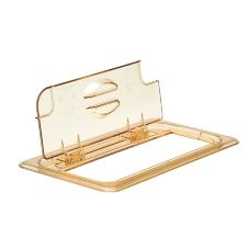 Cambro® 30HPLN150 Amber 1/3 Size Notched H-Pan™ FlipLid®