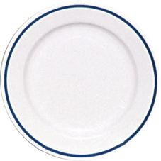 "Homer Laughlin China 0224-1256 Ambassador Blue Line 9"" Plate - 24 / CS"