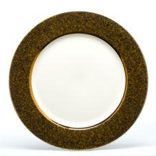 """Homer Laughlin 0373-4083 Seville Amber Luster 12-1/4"""" Plate - 12 / CS"""