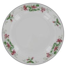 """Homer Laughlin 3851138 Seville Pink Violets 6-1/4"""" Plate - 36 / CS"""