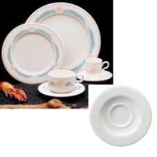 Homer Laughlin 2861273 Seville® Sea Shells A.D. Saucer - 36 / CS
