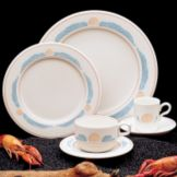 "Homer Laughlin 3701273 Seville® Sea Shells 9-7/8"" Plate - 24 / CS"
