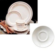 "Homer Laughlin 2841052 Heartland Mocha 5-1/2"" Kent Saucer - 36 / CS"