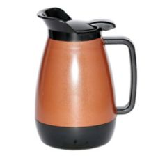 Service Ideas Thermo-Serv® .6 liter Copper / Black Flip Top Server