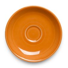 "Homer Laughlin China 293325 Tangerine 6-3/4"" Jumbo Saucer - Dozen"