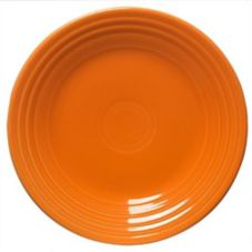 "Homer Laughlin China Fiesta® Tangerine 9"" Plate"