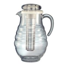 Service Ideas AWP33RB Acrylic 3.3 Liter Ice Tube Pitcher