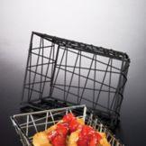 """American Metalcraft BZZ95B Black Wire Zorro 9 x 6"""" Oval Basket"""
