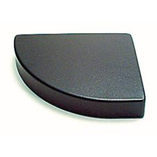 "Delfin 12"" x 10"" x 2"" Black Convex Left Step Riser"