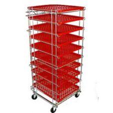 "Jeb Sales ISR12HF 12 Pan 32"" D x 24"" W x 76"" H Wire Bread / Bun Rack"