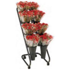 FMS BD8H-100 Black 8-Vase Mobile Bouquet Display