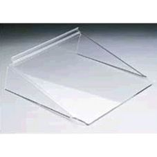 "FMS MSL12 Acrylic 12"" x 12"" Slatwall Shelf - 6 / CS"