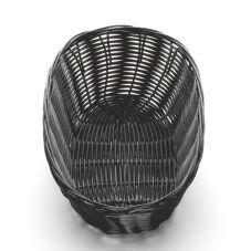 """TableCraft 2476 10"""" x 6.5"""" Woven Plastic Basket - Dozen"""
