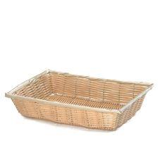 """TableCraft® 1187W 10"""" Hand-Woven Plastic Basket - Dozen"""