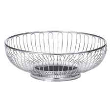 "TableCraft 4170 Chalet Chrome Plated 8-1/4"" x 2-3/4"" Basket"