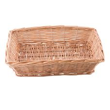 "TableCraft 1689 14"" x 10"" Woven Wicker Rectangular Basket"