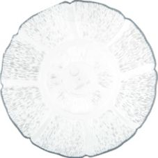 "Carlisle® 695407 7-1/2"" Clear Petal Mist Plate - Dozen"