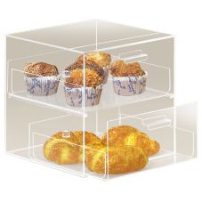 Cal-Mil® 2 Drawer Clear Straight Front Counter Display