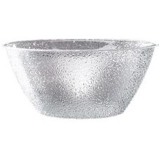 "Cal-Mil® 402-18-34 Pebbled 20 Qt. Clear 18"" Deep Bowl"