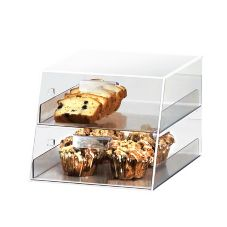 Cal-Mil 258 Acrylic Display Counter with 2 Slant Front Drawers