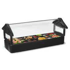 Carlisle® 660103 Six Star™ 6' Black Table Top Food Bar
