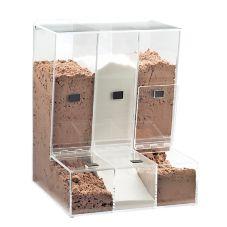 Cal-Mil 946 Acrylic 3 Bin Bulk Food Dispenser