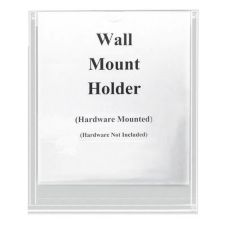 "Cal-Mil® 233 Wall Mount 8"" x 11"" Brochure Holder"