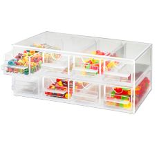 Cal-Mil® 287 Clear Acrylic 8 Drawer Topping Dispenser