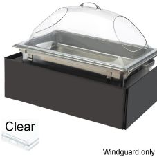 "Cal-Mil® 978-12 Clear 22.5"" x 14"" Chafer Windguard"