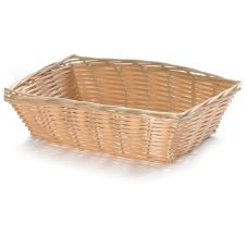 "TableCraft® 1172W 9"" x 6"" Hand-Woven Plastic Basket"