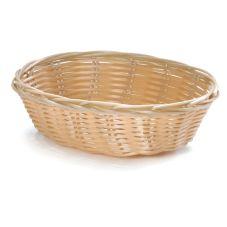 """TableCraft 1171W 7"""" x 5"""" Hand-Woven Plastic Basket - Dozen"""