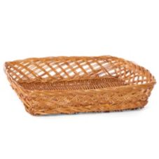 "Willow Specialties 16-1/2"" x 14"" Brown Willow Basket"