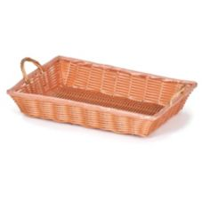 "Willow Specialties 4151.14 14"" x 10"" Poly-Line Basket With Handles"