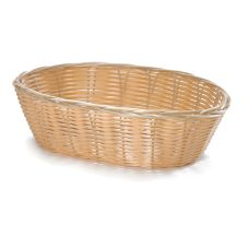 TableCraft® 1176W Oval Hand-Woven Plastic Basket - Dozen